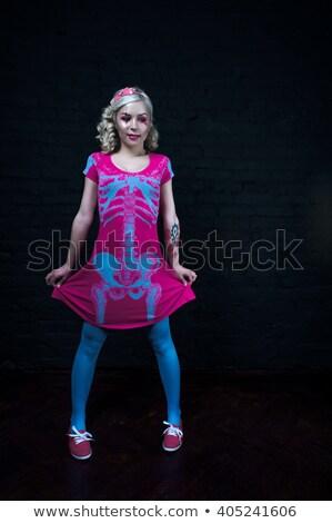 魅力 · ショット · かわいい · ブロンド · ハロウィン · 魔女 - ストックフォト © carlodapino