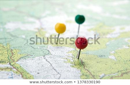 red pushpin close up Stock photo © inxti