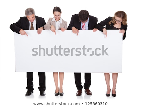 Business people pointing at empty copyspace Stock photo © photography33