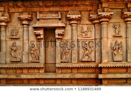architectural detail at Vittala Temple Stock photo © prill