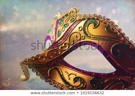 Stock photo: Woman in venitian mask