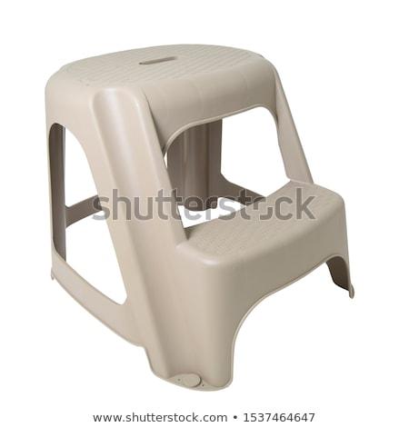 baby plastic stool on a white background Stock photo © ozaiachin