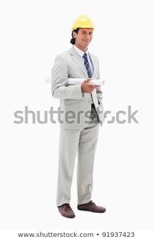 Architekt · lächelnd · Helm · zwei · Kollegen · Business - stock foto © wavebreak_media