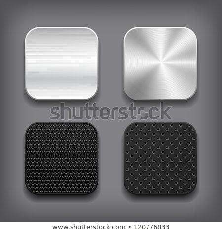 abstract glossy computre icon set stock photo © rioillustrator