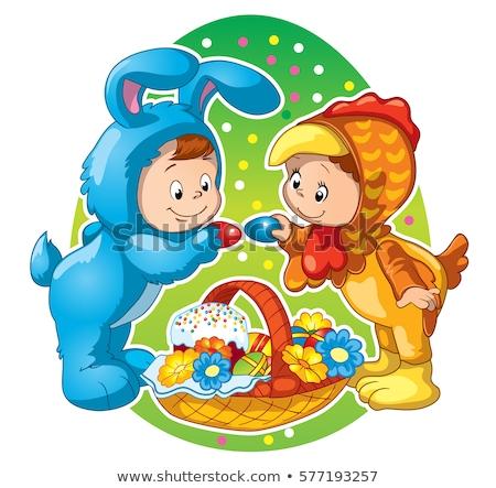 Easter Boy - Cartoon Character - Vector Illustration stock photo © indiwarm