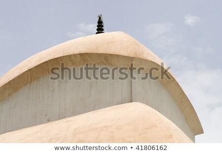 religioso · santuário · azul · branco · parede · virgem - foto stock © eldadcarin