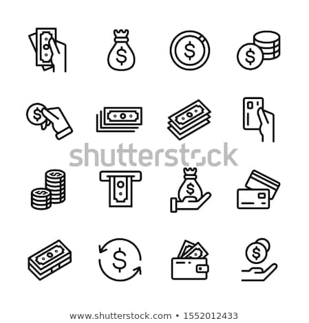 Vector icon cash and calculator stock photo © zzve