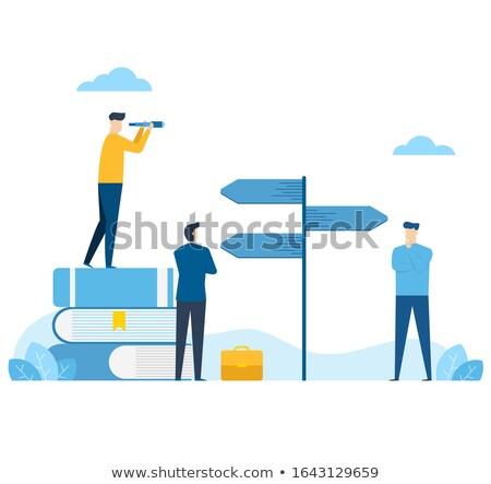 choix · affaires · beaucoup · escaliers - photo stock © 4designersart