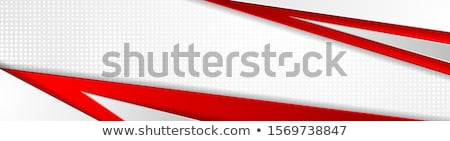 Kırmızı beyaz kurumsal malzeme muhtıra zarf Stok fotoğraf © obradart