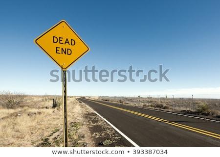 にログイン 道路標識 日没 カリフォルニア 米国 ストックフォト © DonLand