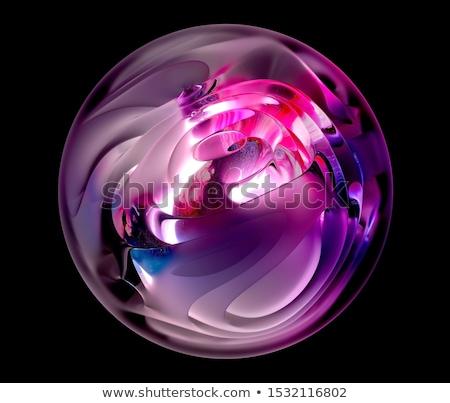 Abstract lucido sfere luce digitale bianco Foto d'archivio © lenapix