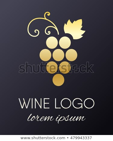 vin · icône · métallique · design · illustration - photo stock © Porteador