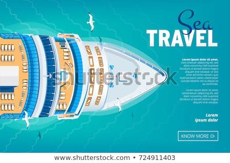 oceaan · vintage · merkt · uitnodigingen - stockfoto © Allegro