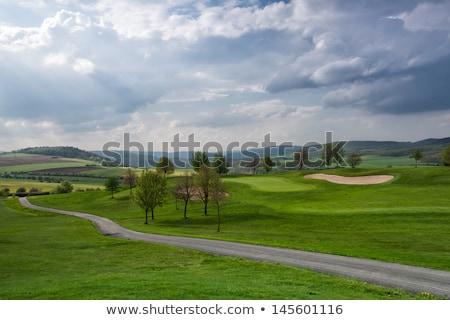 зеленый гольф Чешская республика пусто весны гольф Сток-фото © CaptureLight