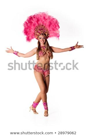 Belo carnaval dançarina mulher posando isolado Foto stock © stepstock