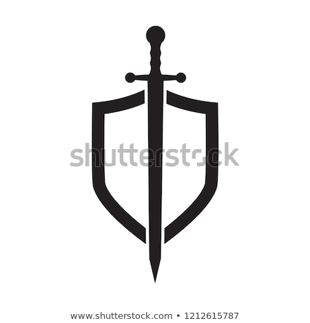 Kalkan swords dizayn çerçeve savaş Retro Stok fotoğraf © vipervxw