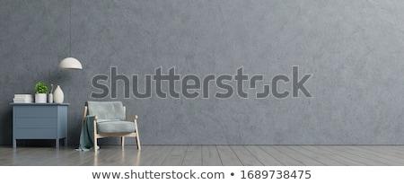 Domu dekoracji salon sofa powyżej przestrzeni Zdjęcia stock © Anterovium