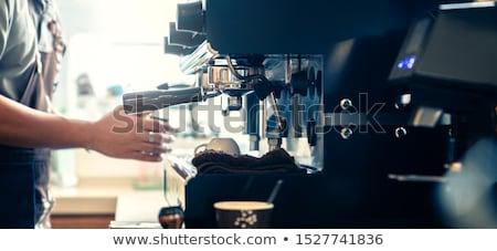 Stockfoto: Vrouw · koffie · jonge · mooie · vrouw · land