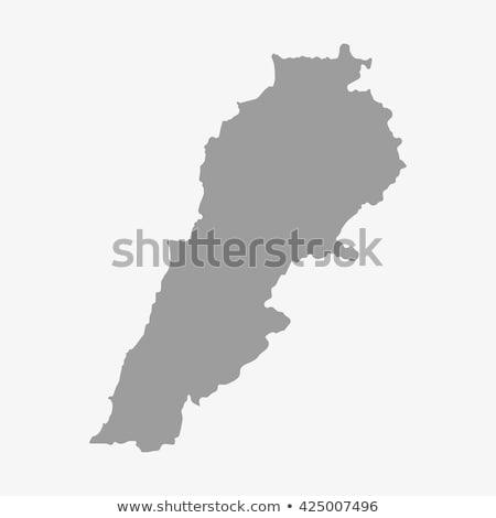 Líbano mapa ilustração regiões brilhante Foto stock © Volina