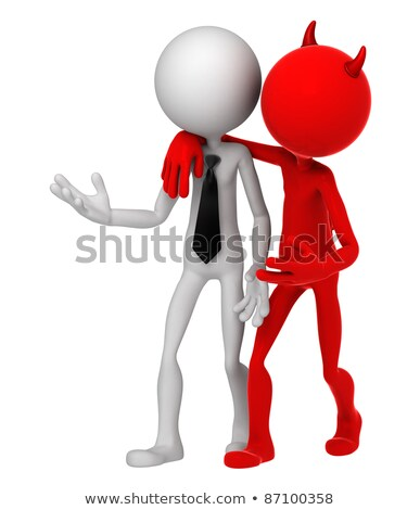Devil whispering to Businessman. Unfair business metaphor Stock photo © Kirill_M