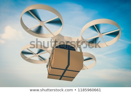 3D drone delivering a package Stock photo © texelart