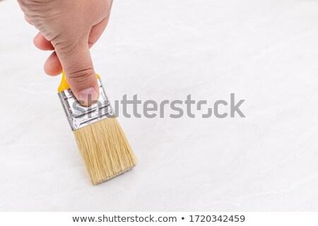 kézműves · festő · tart · tapéta · ecset · munka - stock fotó © milsiart