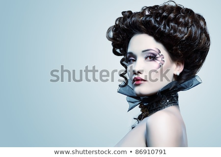 ужас · вампир · кровавый · зубов · Готский · стиль - Сток-фото © elnur