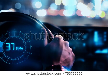 Close-up Of Hand Driving The Car Stock photo © AndreyPopov