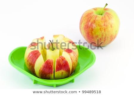 fresco · maçã · vermelha · fatias · isolado · branco - foto stock © alekleks
