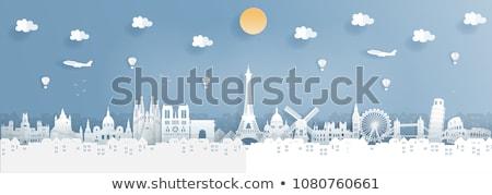 Seyahat örnek dünya ünlü Bina dizayn Stok fotoğraf © vectomart
