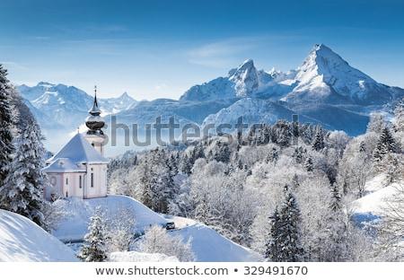 Photo stock: Vallée · alpes · hiver · pic · Autriche · ciel