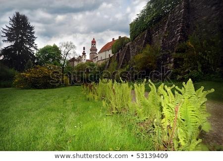 Palácio República Checa edifício arte viajar arquitetura Foto stock © phbcz