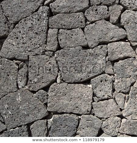 Zdjęcia stock: Tekstury · czarny · skały · wulkaniczne · ściany · kanarek