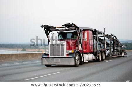 red car hauler Stock photo © zkruger