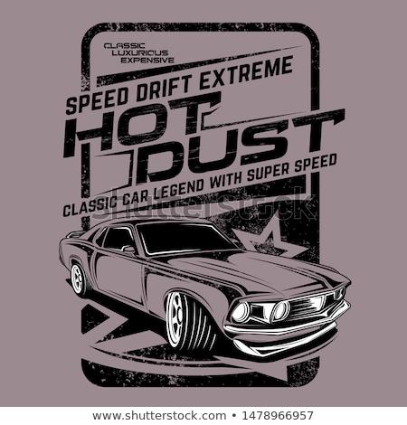 klasik · hot · rod · stil · yarış - stok fotoğraf © mechanik