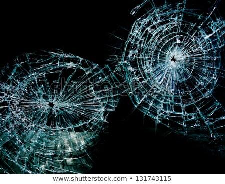 Dois cacos de vidro rachaduras branco abstrato projeto Foto stock © anbuch