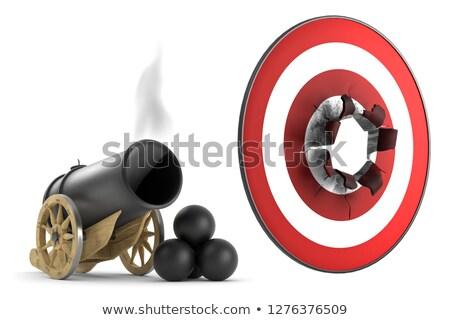 Kanon shot vintage Rood schieten outdoor Stockfoto © cosma