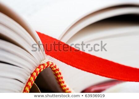 Imi kitap bulmak düzeltmek sayfa kırmızı Stok fotoğraf © RuslanOmega