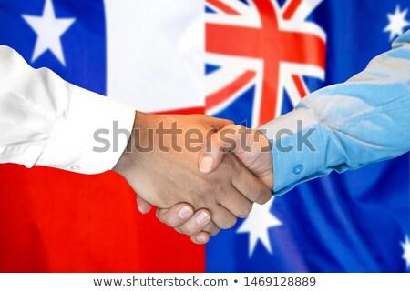 Kézfogás Chile Ausztrália kéz megbeszélés sport Stock fotó © Zerbor