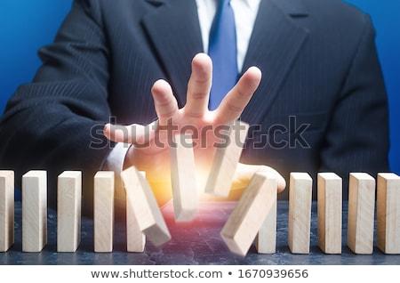 fraco · ponto · triste · empresário · quebrado · cadeia - foto stock © tiero