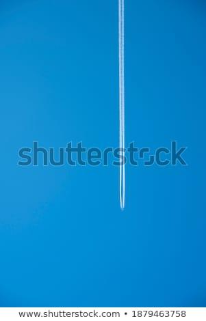 Sky with Airplane Exhaust Sreams Stock photo © ArenaCreative