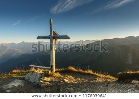 Bench and cross  Stock photo © pavelmidi
