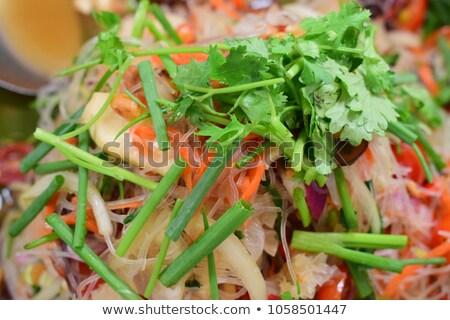 тайский стиль огурца пряный Салат Сток-фото © punsayaporn