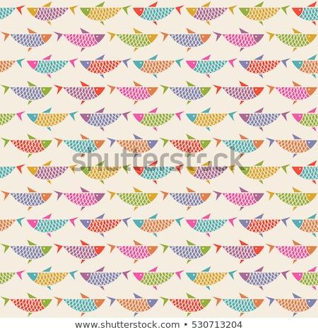 вектора оригинальный декоративный рыбы набор дизайна Сток-фото © tiKkraf69