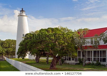 The Ocracoke Lighthouse and Keeper's Dwelling on Ocracoke Island Stock photo © alex_grichenko