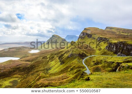 quiraing mountains isle of skye stock photo © elxeneize