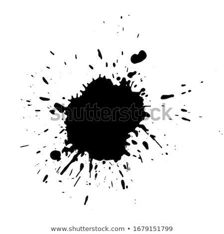 Szett fekete tinta csobbanás grunge absztrakt Stock fotó © gladiolus