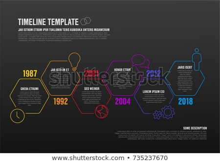 modern dark hexagonal infographic report template made from lines stock photo © orson
