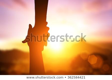 mão · fora · ajudar · isolado · branco · grupo - foto stock © gemenacom