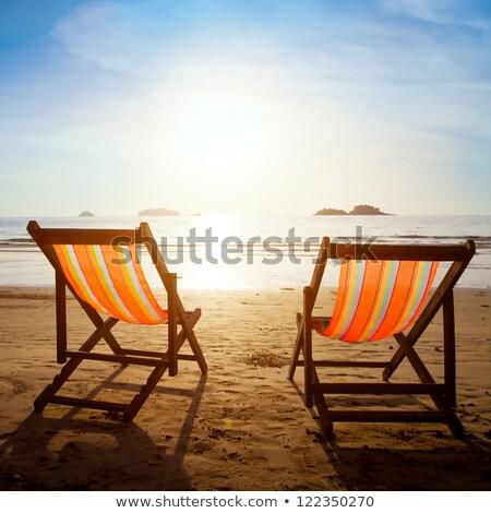 Two armchairs at beach Stock photo © olandsfokus